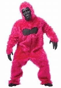 Gorilla Size Chart Pink Gorilla Costume Suit