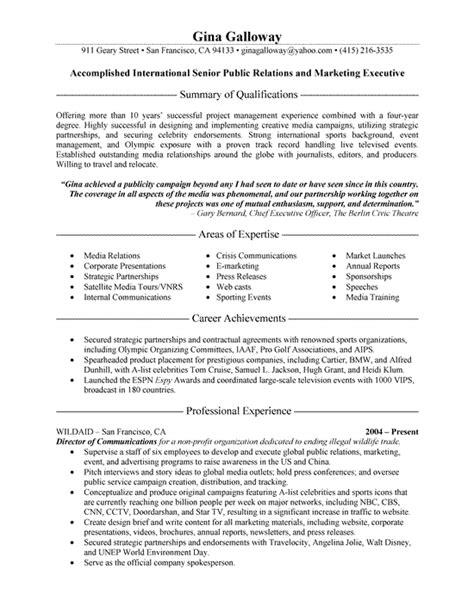 relation resume objective relations executive resume exle