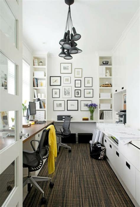 narrow office layout small home office room with wall system ideas