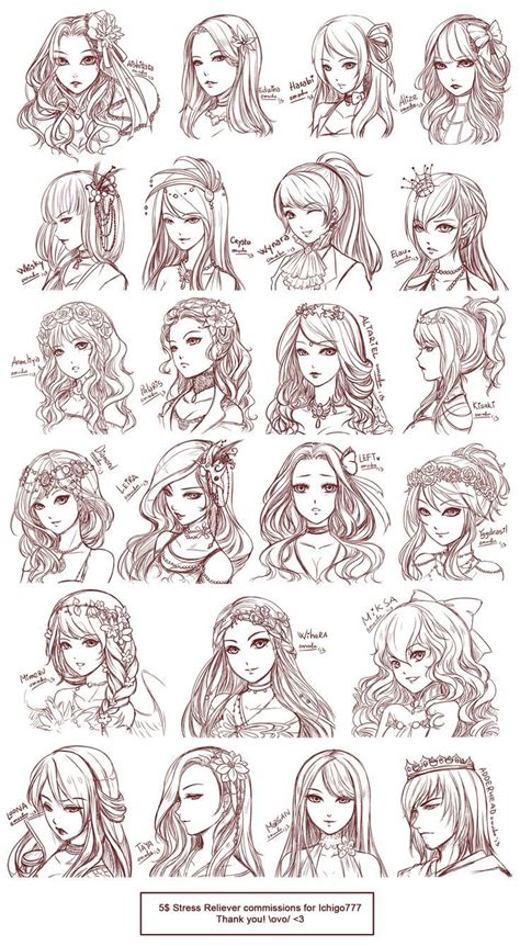 anime hair styles anime hairstyles disney characters drawings