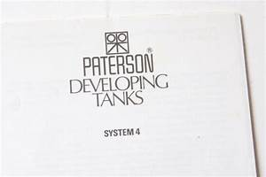 Paterson System 4 Tanks Instruction Manual Book Guide