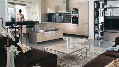 deco salon cuisine ouverte decoration cuisine ouverte sur sejour cuisine en image