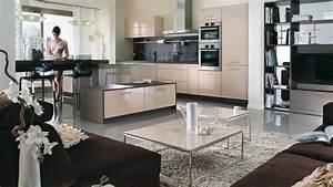 Cuisine Ouverte Sur Salon : decoration cuisine ouverte sur sejour cuisine en image ~ Dallasstarsshop.com Idées de Décoration