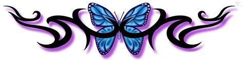 daintytriballowerbacktattos blue butterfly