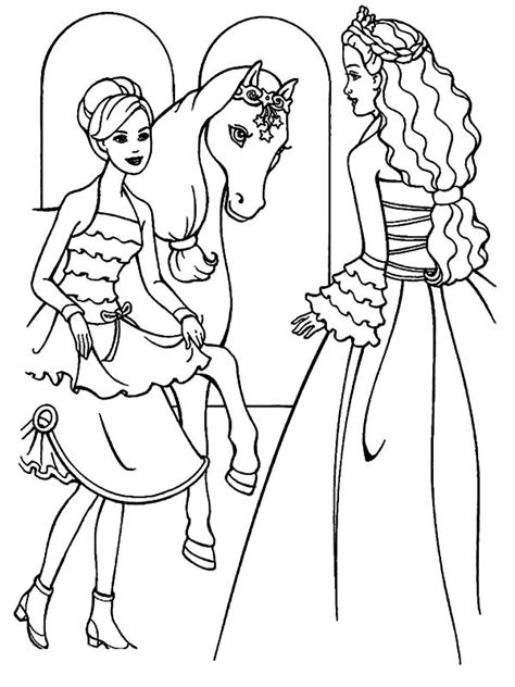 barbie doll wearing night dress coloring pages coloring sky