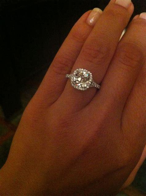 cushion cut diamond 2 carat cushion cut diamond with halo