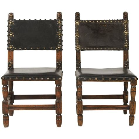 leather embellished side chair for sale at 1stdibs