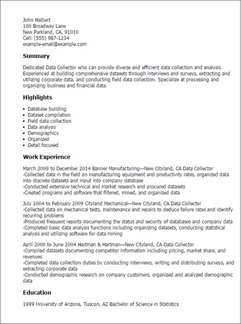 debt collector resume sle
