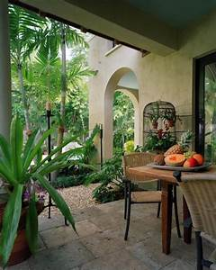 Tropical garden and pool area in a Miami residence