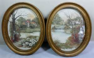 vtg homco home interior shabby cottage chic f massa oval framed prints lithos ebay