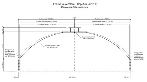 copertura a cupola copertura a cupola per impianto di depurazione san