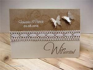 Hochzeitseinladungskarten Selbst Gestalten : hochzeitseinladung vintage butterfly bastelset karte ~ Watch28wear.com Haus und Dekorationen