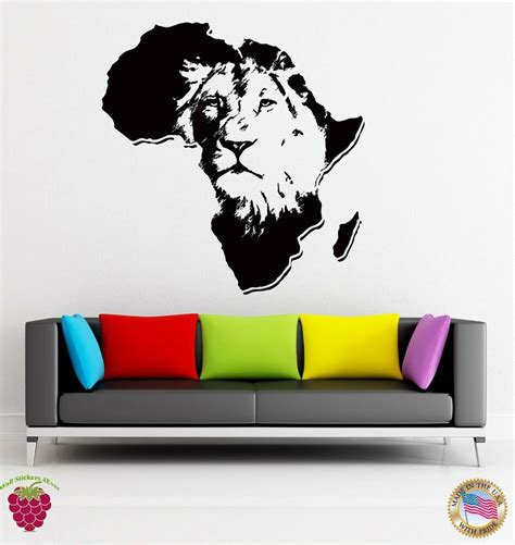 Stunning Living Room Wall Stickers by Wall Stickers Vinyl Animal Africa Predator Decor For