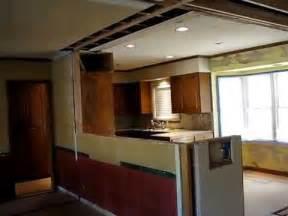 galley kitchen open floor plan remodel  homework remodels youtube