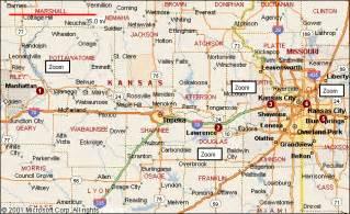 Kansas Map with Cities