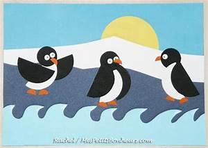 Pingouin Sur La Banquise : enfants bricolage d hiver pingouins ou manchots sur la banquise banquise pingouins ~ Melissatoandfro.com Idées de Décoration