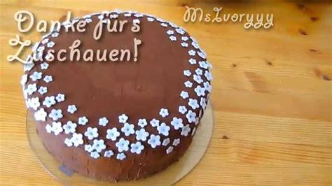fast fondant torte einfach torte dekorieren