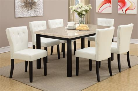poundex  brown marble dining table steal  sofa