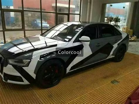 camouflage custom car sticker bomb camo vinyl wrap car wrap with air release snowflake bomb