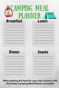 camping tips for newbies diaries of a domestic goddess With camping menu planner template