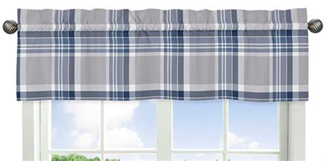 Blue Gray Valance by Plaid Navy Blue And Gray Valance Blanket Warehouse