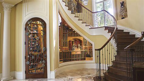 wine cellar built   stairs private cellars
