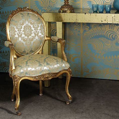 Versailles Armchair by Versailles Damask Gold Armchair Bedroom Company