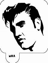 Elvis Presley Stencil Hair Stencils Mr Silhouette Silhouettes Face Celebrity Cut Template Tattoo Sideburns Pages Elvira Vinyl Vector Pumpkin Coloring sketch template