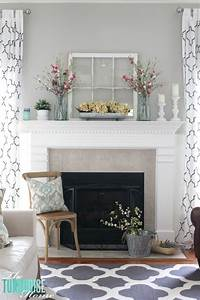 24, Spring, Mantel, Decor, Ideas, To, Brighten, Up, The, Space, With, Seasonal, Blooms