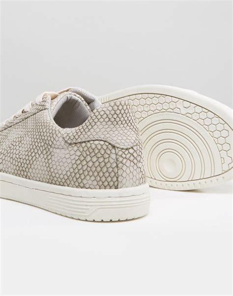 lyst asos sneakers  gray snakeskin effect  gray  men