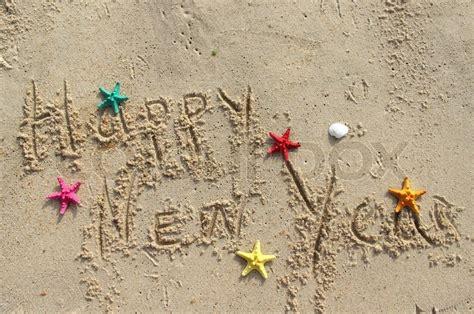 Happy New Year Beach Postcard