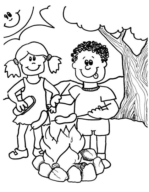colorwithfuncom camping coloring pages  kids