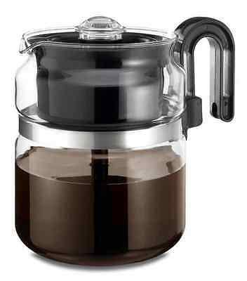 How to make coffee with a stovetop percolator. Stovetop Coffee Maker Percolator Glass Pot Stove Top Camping Winter Survival Kit | eBay