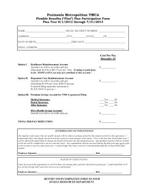 section 125 cafeteria plan phone message template microsoft word forms fillable