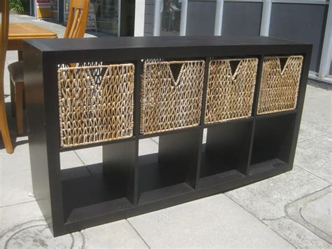 storage shelf with baskets interior square brown storage shelves with two different