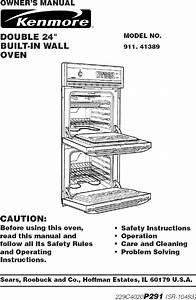 Kenmore 91141389892 User Manual Electric Built In Oven