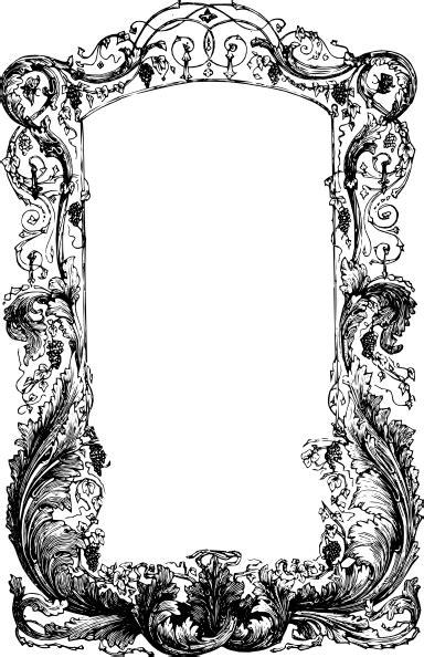 decorative frame clip art  clkercom vector clip art