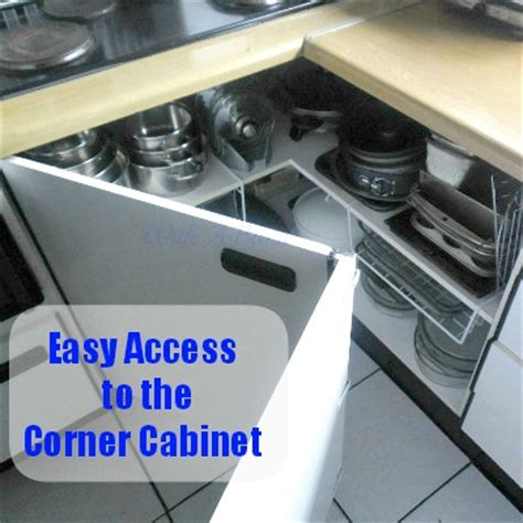 corner cabinet access solutions hometalk create easy access to the kitchen corner cabinets