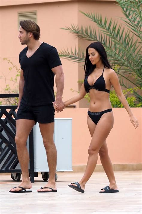 yazmin oukhellou rocks a black calvin klein bikini as ...