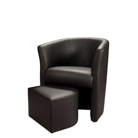 baya fauteuil en simili cabriolet pouf noir achat vente fauteuil pvc polyur 233 thane