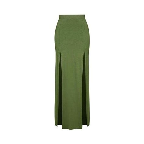 Weily Maxi topshop split maxi skirt 20 found on polyvore