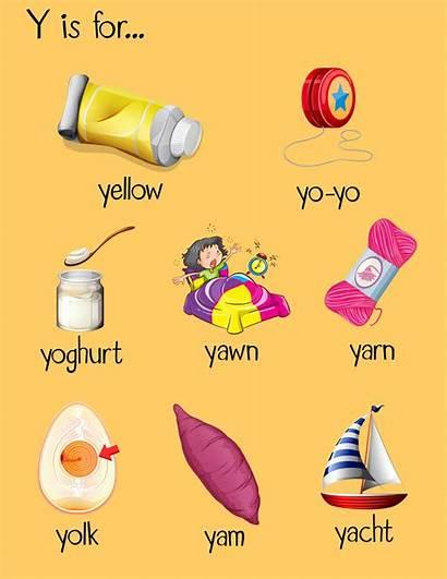 Letter Words Begin Many Vector Illustration Start