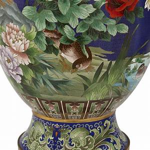 Pair, Of, Large, Chinese, Cloisonn, U00e9, Enamel, Vases