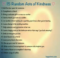 15 Random Acts of Kindness