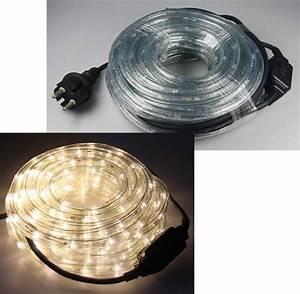 Led Lichterschlauch 10m : 10m led lichtschlauch 240 led 15w 230v warmwei ip44 led ambiente und ~ Buech-reservation.com Haus und Dekorationen