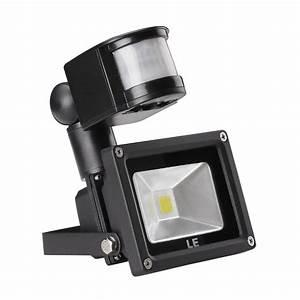 Le w motion sensor security light led flood lights