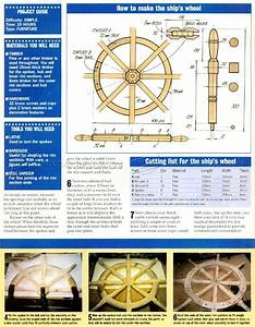 Ship Wheel Plans • WoodArchivist