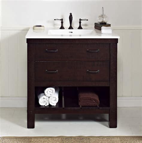 bathroom kitchen cabinets napa 36 quot open shelf vanity aged cabernet fairmont 1506
