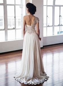 one shoulder strap wedding dress inspiration 2167140 With one strap wedding dresses