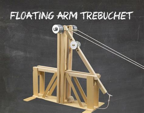 floating arm trebuchet woodworking floating arm